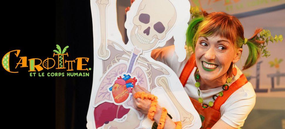 Photo Carotte et le corps humain pour site web Productions Girafe - spectacle pour enfants